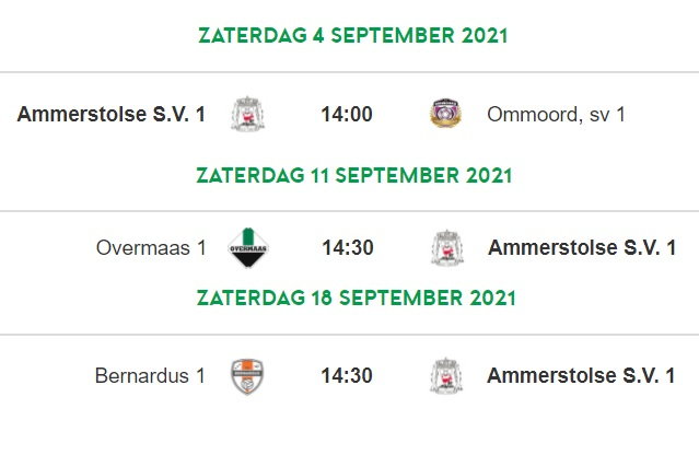 Bekerwedstrijden 1e elftal (za) bekend