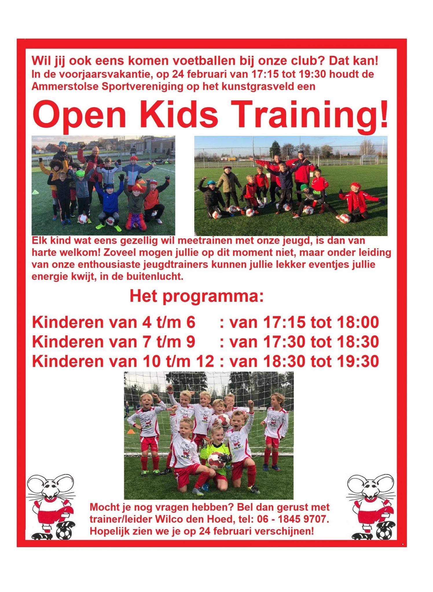 24 Februari: Open Kids Avond!